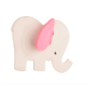 Pink Elephant Natural Teether : Organic Baby Toy - Lanco Barcelona
