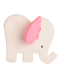 Pink Elephant Natural Teether : Organic Baby Toy - Lanco Barcelona