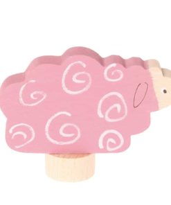 Pink sheep decorative figure - Grimm's