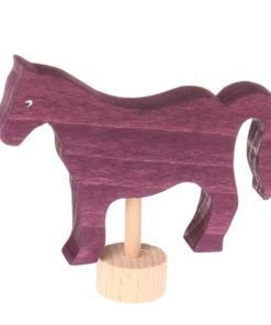 Waldorf birthday ring decoration Purple horse decorative figure - Grimm's