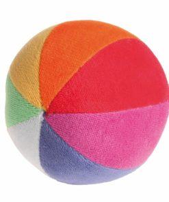 Handmade sustainable fabric baby sensory toy Rainbow ball - Grimm's