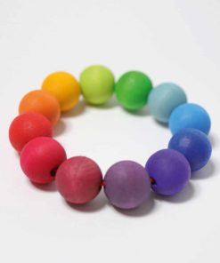 Rainbow bead ring - Grimm's