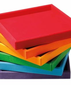 Handmade sustainable wooden toy trays Rainbow frames - Grimm's