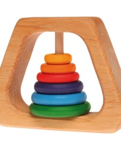 Wooden baby rattle Rainbow pyramid rattle - Grimm's