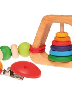 Rainbow pyramid rattle - Grimm's