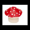 Anneau de dentition naturel en forme de champignon rouge / Jouet bébé biologique - Lanco