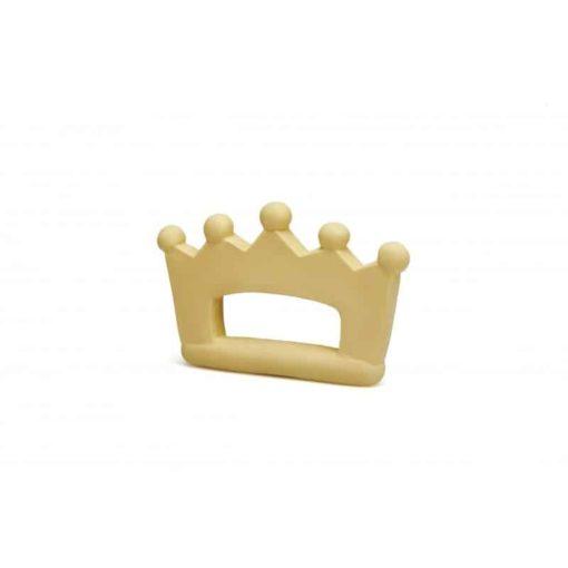 Jouet de dentition naturel en forme de couronne de couleur vanille : Jouet biologique pour bébé - Lanco Barcelone