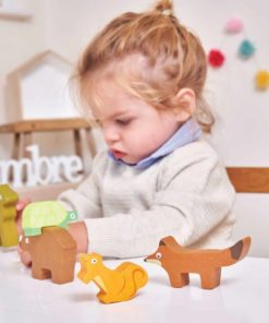 Wooden Forest Stacker Animals / Sustainable wooden toy - Le Toy Van