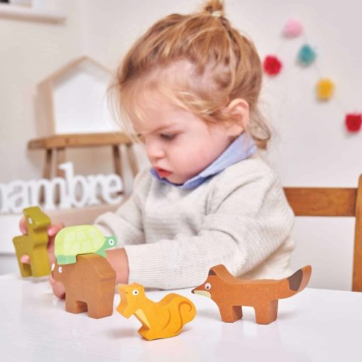 Les animeaux forestiers empileurs en bois / jouet en bois durable - Le Toy Van