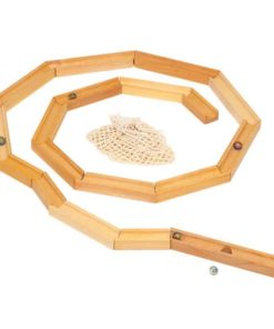 Wooden ball track set Handmade wooden toy - Glückskäfer