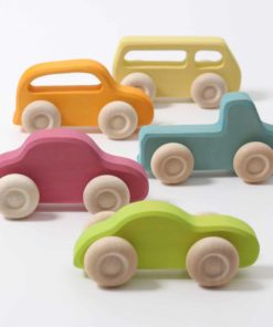 Handmade sustainable wooden toy vehicles Wooden cars slimline - Grimm's