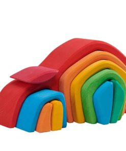 Wooden vaulted tunnel / Handmade wooden stacking toy - Glückskäfer