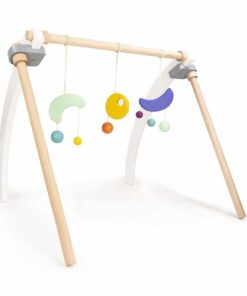 Handmade sustainable wooden toy Baby gym - Bajo