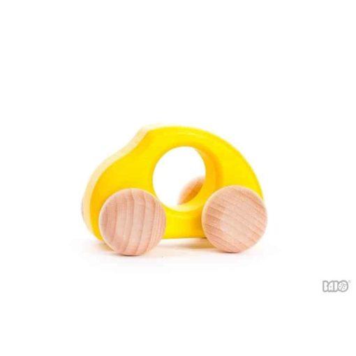 Beetle voiture jaune / Véhicule en bois durable fait à la main - Bajo