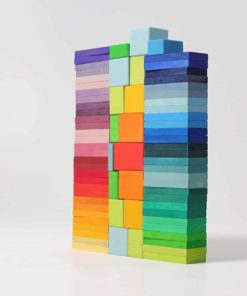 Handmade sustainable wooden building blocks Colour charts rally - Grimm's
