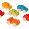 Voitures en bois colorées / Véhicules jouets en bois durables faits main - Grimm's