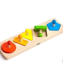 Handmade sustainable wooden toy Figures puzzle - Bajo