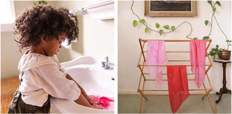 How to clean wooden & fabric toys - Sarah's Silks - Teia Education