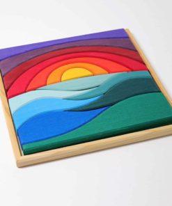 Blocs de construction en bois durables faits main Puzzle créatif paysage - Grimm's