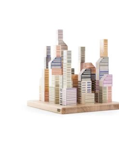 Blocs de construction Manhattan en bois durable et fait à la main - Bajo