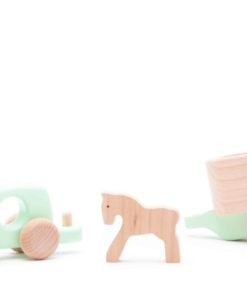 Mint truck with horse and trailer - Bajo