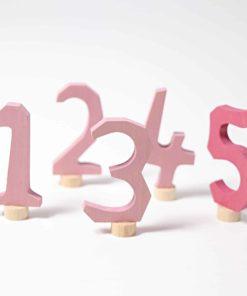 Pink decorative numbers 1-5 - Grimm's