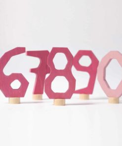 Waldorf birthday ring decorations Pink decorative numbers 6-9 and 0 - Grimm's