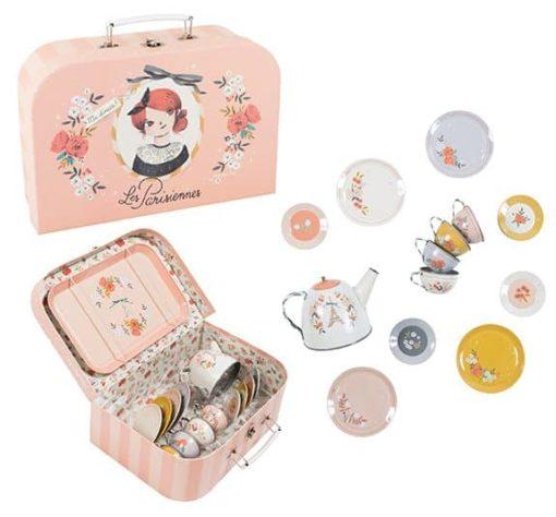 Service à thé dans une valise - Moulin Roty