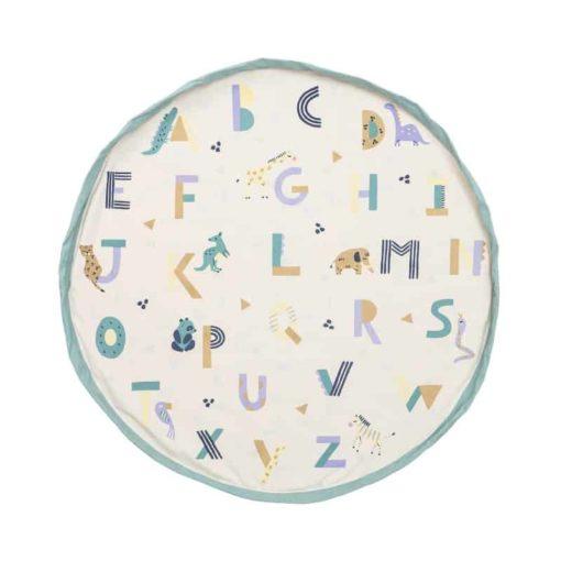 Animal alphabet play bag : Play mat and storage bag - Play & Go