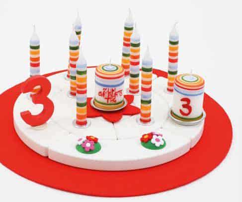 Candlecoloured stripes Waldorf celebrations ring accessory- Glückskäfer Ahrens