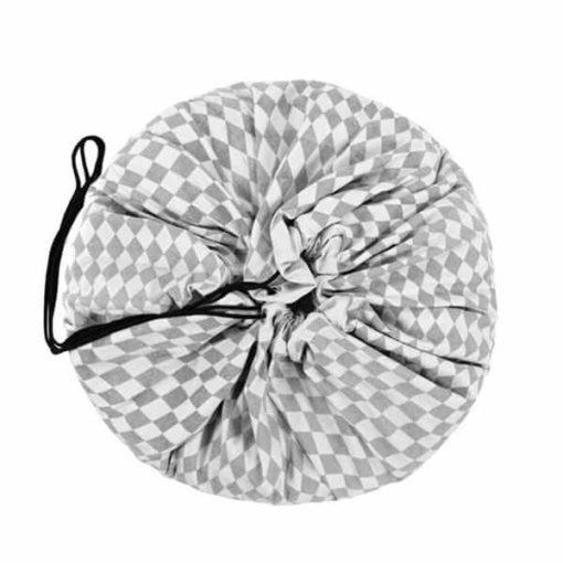 Sac de jeu diamant gris : Tapis de jeu et sac de rangement - Play & Go1