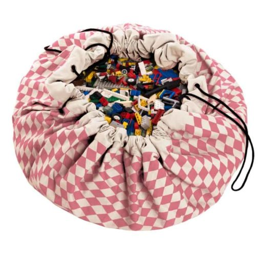 Sac de jeu diamant rose / Tapis de jeu et sac de rangement - Play & Go