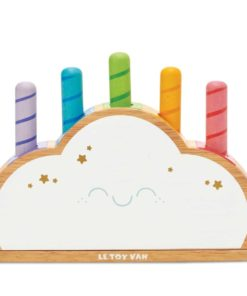 sustainable solid wooden toy Rainbow cloud pop – Le Toy Van