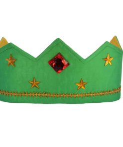 Reversible silk crown green gold - Sarah's Silks