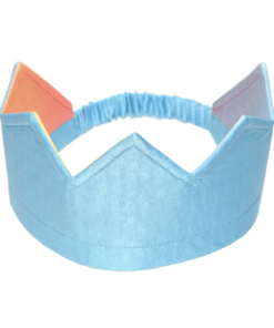 Reversible silk crown rainbow blue - Sarah's Silks