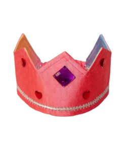 Reversible silk crown rainbow rose - Sarah's Silks