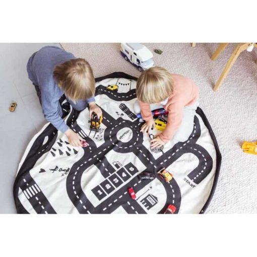 Sac de jeu route / tapis de jeu et sac de rangement - Play & Go