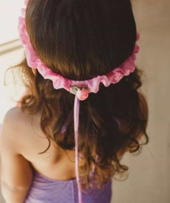 Silk Garland hairband pink lavender - Sarah's Silks