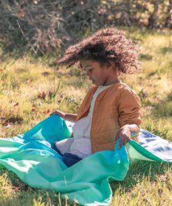 Couverture en soie pour bébé, couleur verre de mer - Sarah's Silks