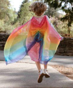 Silk fairy dress: pink/rainbow - Sarah's Silks