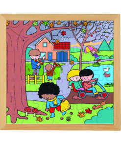 Four seasons wooden puzzle: autumn - Educo