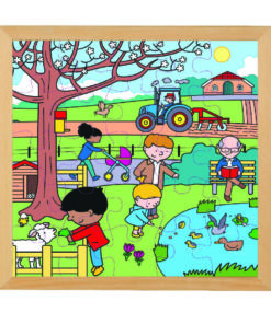 Four seasons wooden puzzle: spring - Educo