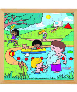 Four seasons wooden puzzle: summer - Educo