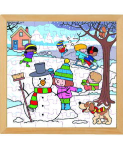 Four seasons wooden puzzle: winter - Educo