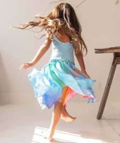 Toddler fairy skirt in rainbow blue - Sarah's Silks