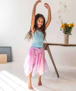 Toddler fairy skirt in pink and lavender - Sarah's Silks