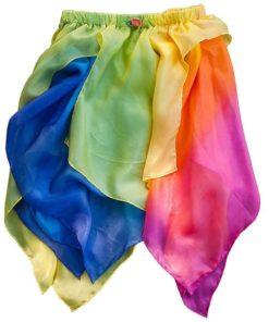 Toddler fairy skirt in rainbow yellow - Sarah's Silks