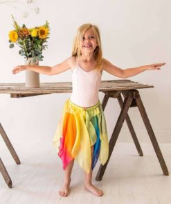 Toddler fairy skirt in rainbow yellow - Sarah's Silks