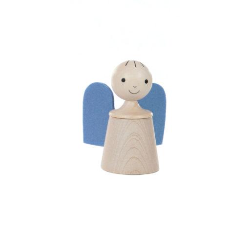 Wooden musical guardian angelin blue - SINA Spielzeug