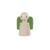 Wooden musical guardian angelin green - SINA Spielzeug